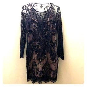 Black Lace Dress **express**